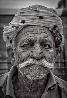 People, Portrait, Adult, Man, Old, Veil, Elderly, Wear