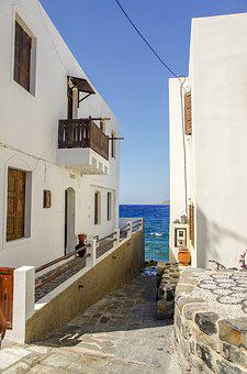 Architecture, House, No One, Sea, The Aegean Sea