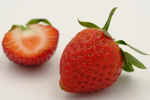 Strawberries, Berries, Sliced, Fruits, Fruit, Summer