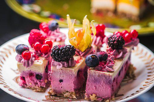 Sweet, Fruit, Cake, Cream, Berry