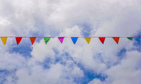 Sky, Freedom, Outdoors, Nature, Cloud, Bunting