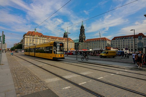 City, Transport System, Travel, Road, Traffic, Dresden