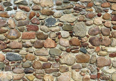 Stone Wall, Stone, Rock, Lake Dusia, Model, Texture