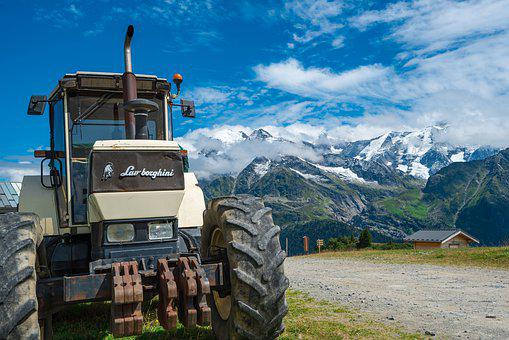 Machine, Horizontal, Landscape, Tractor, Agriculture