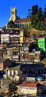 Shimla, Pradesh, Christ, Church, City, Centre, Outdoors