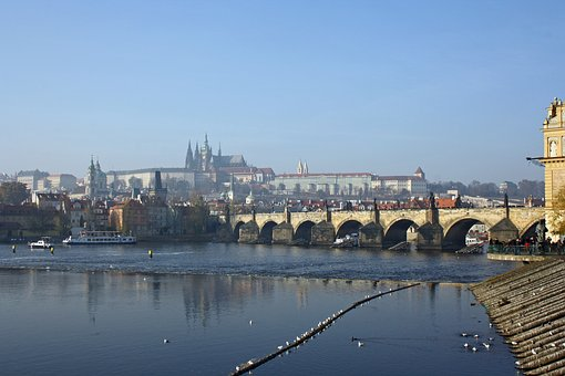 City, Architecture, River, Waters, Travel, Prague