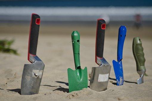 Shovel, Trowel, Outdoors, Sand, Tool, Soil