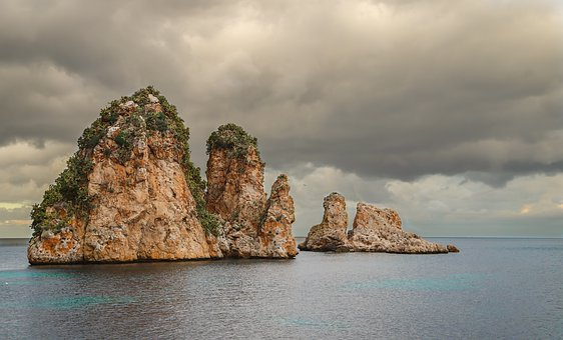 Waters, Sea, Rock, Nature, Costa, Sicily, Italy, Rocks