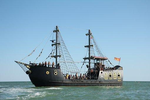 Ship, Pirates, Sea, Boat Trip