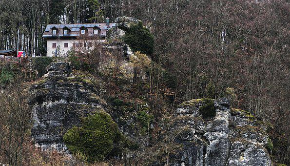 Rock, Building, Lonely, Home, Landscape, Stone