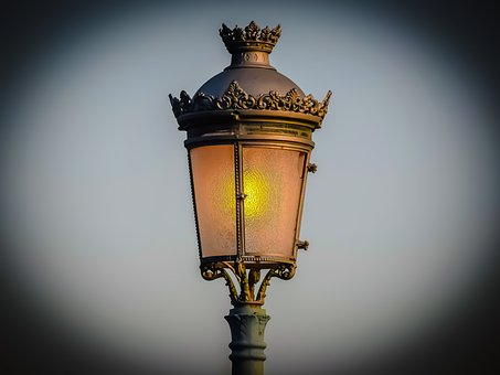 Lamp, Lantern, Illuminated, Light, Antique, Streetlight