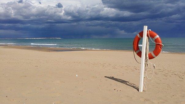Sand, Beach, Waters, Sea, Coast, Ocean, Holiday, Sun