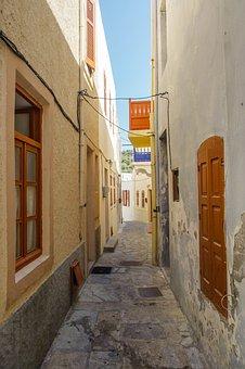 Architecture, House, Narrow, Street, Window, Door, City