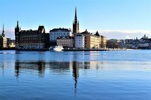 Architecture, City, Body Of Water, Lake, Buildings