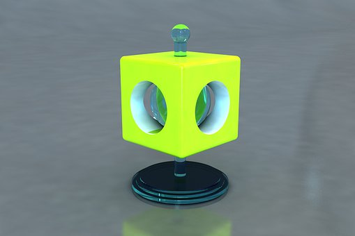 Lamp 3d, Illustration, Color