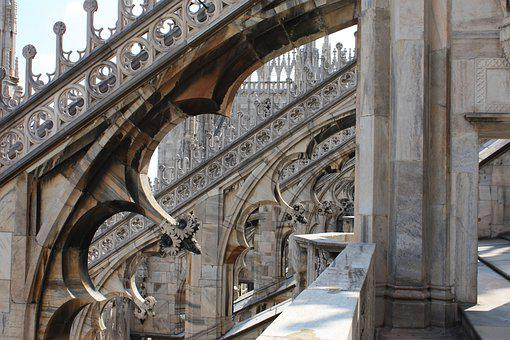 Architecture, Travel, Building, Big City, Milan, Duomo