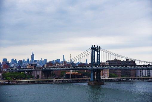 Water, River, Bridge, City, Architecture, Sky