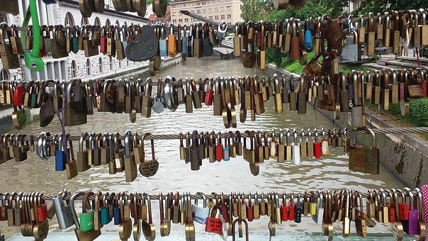 Hanging, Market, Bridge, Locks, Love Bridge, Tourism