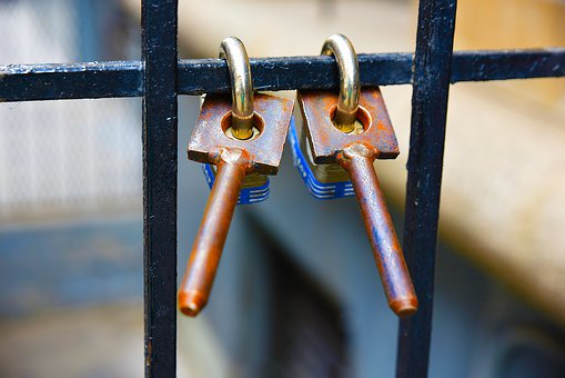Iron, Old, Lock, Steel, Safety, Security, Love, Rust