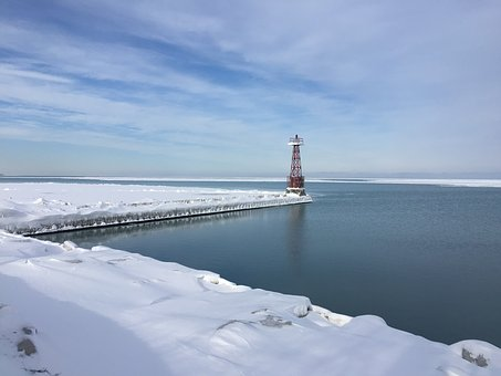 Winter, Body Of Water, Snow, Outdoor, Ice, Lighthouse