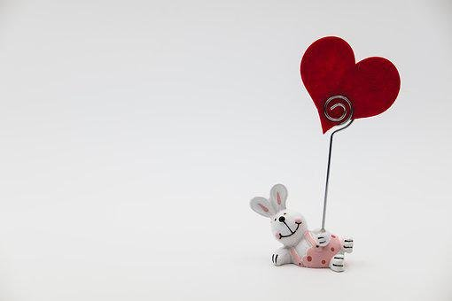Easter Bunny, Hare, Love, Heart, Romantic, Affection