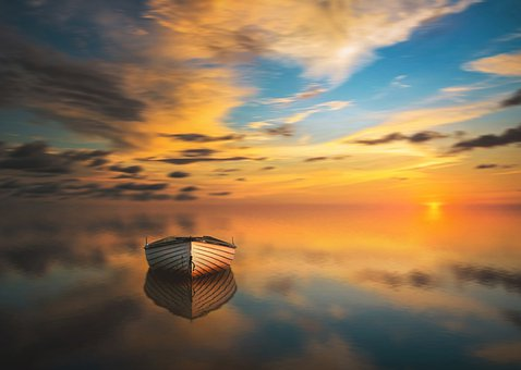Sunset, Dawn, Solar, Sky, Panoramic, Nature, Landscape