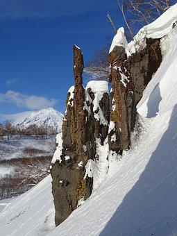 Rocks, Outliers, Pillars, Snow, Winter, Coldly, Ice