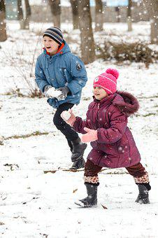 Baby, Winter, Snow, Fun, Boy, Girl, Kids, Play, Smile