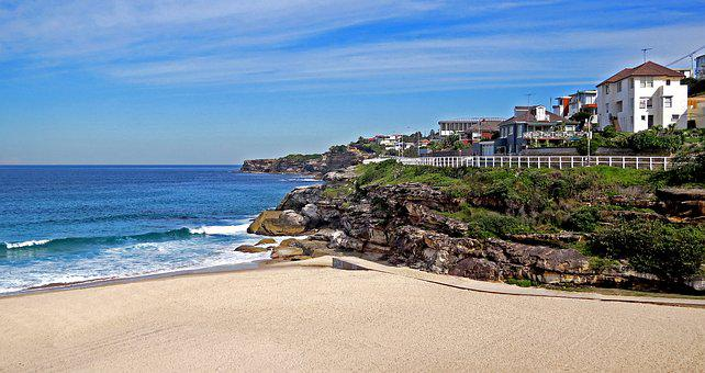Sea, Seashore, Water, Beach, Travel, Coogee, Sydney