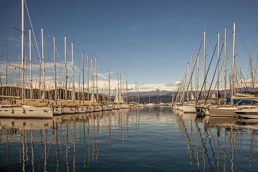 Body Of Water, Sailboat, Yacht, Boat, Marine, Marina