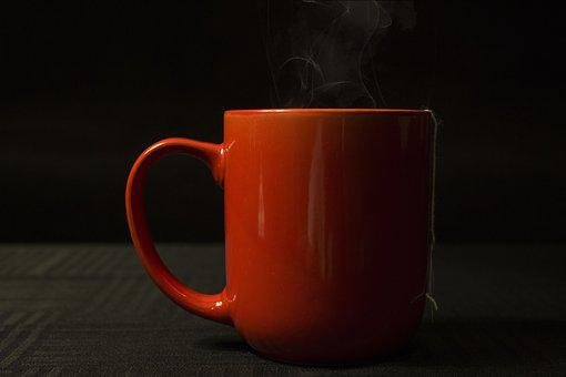 Cup, Drink, Tea, Hot, Coffee, Red Mug, Mug, Red, Steam