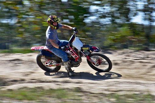 Bike, Hurry, Action, Motion Blur, Wheel, Biker, Motion