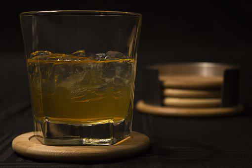 Drink, Glass, Whisky, Coaster, Coasters, Ice, Alcohol