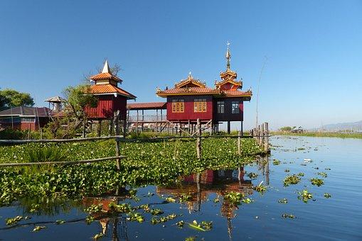 Water, Lake, Travel, Outdoors, Reflection, Myanmar