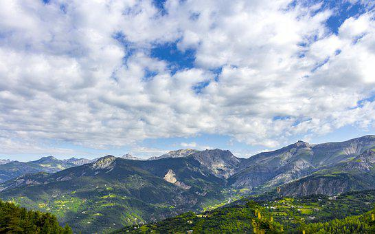 Nature, Mountain, Panorama, Sky, Travel, France, Alpine
