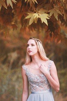 Nature, Outdoor, Beautiful, Autumn, Girl, Park