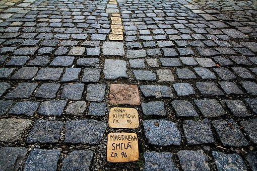 Sidewalk, Cobble, Stone, Brick, Old, Pattern, Boulevard