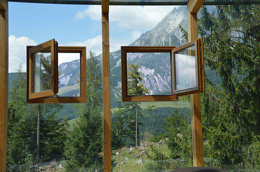 Window, Wood, Sky, Empty, Picture Frame, Summer, Woods