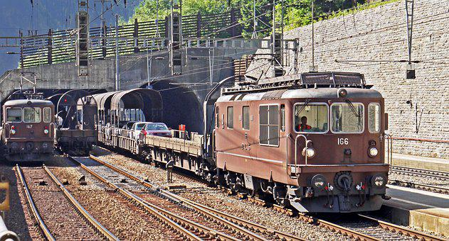 Switzerland, Lötschberg Tunnel, South Side