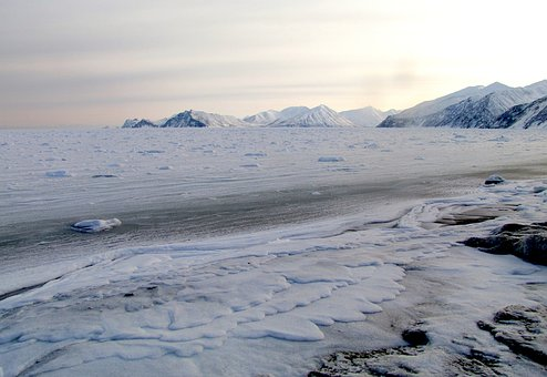 The Pacific Ocean, Beach, Coast, Kamchatka, Winter