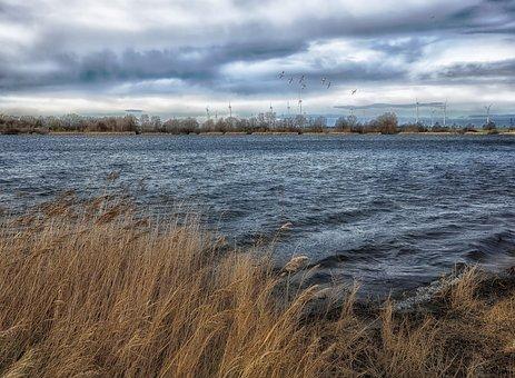 Lake, Wind, Waters, Landscape, Nature, Sky, Panorama