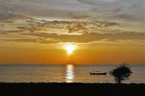 Sunset, Thailand, Sea, Abendstimmung, Sun, Waters, Dusk