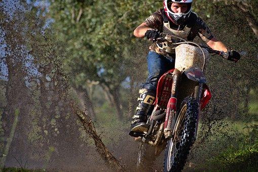 Bike, Helmet, Hurry, Biker, Wheel, Action, Adventure