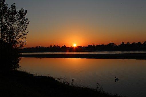 Sunset, Dawn, Waters, Sun, Dusk, Evening, Nature