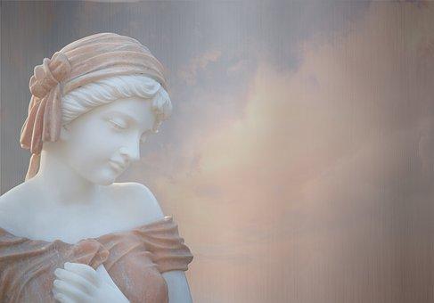 Human, Woman, Goddess, Statue, Sculpture, Figure, Head