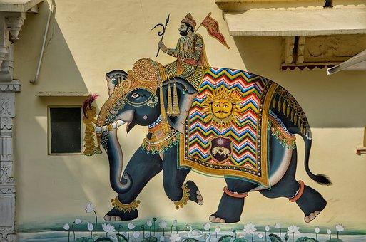 Wall, House, Art, Graffiti, Elephant, Decoration, Home