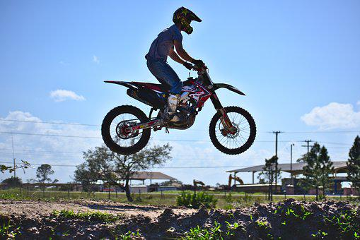 Bike, Wheel, Hurry, Midair, Jump, Ramp, Honda