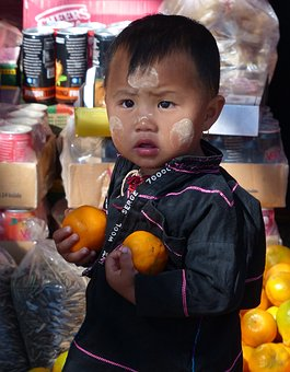 Child, Market, People, Stock, Portrait