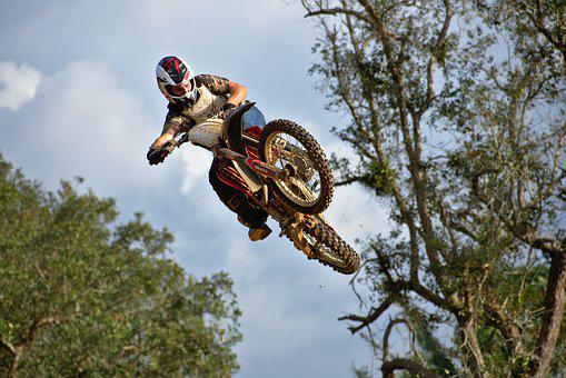 Airborne, Whip, Ramp, Jump, Nature, Wood, Sky