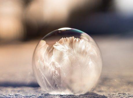 Blur, Close, Soap Bubble, Snow, Ice, Cold, Winter